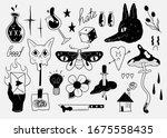 old school tattoo elements.... | Shutterstock .eps vector #1675558435