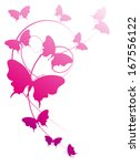 butterflies design vector | Shutterstock .eps vector #167556122