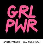 tag inscription girl power...   Shutterstock .eps vector #1675561222