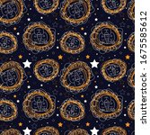 seamless pattern with cartoon...   Shutterstock . vector #1675585612