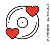 vinyl line icon. favorite song. ...   Shutterstock .eps vector #1675601575
