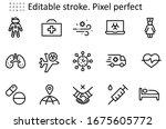 set of coronavirus protection... | Shutterstock .eps vector #1675605772
