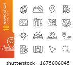 navigation  location and map...   Shutterstock .eps vector #1675606045