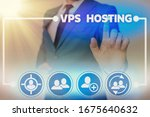 word writing text vps hosting.... | Shutterstock . vector #1675640632