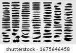 big collection of black paint ... | Shutterstock .eps vector #1675646458