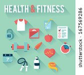 health   fitness icons | Shutterstock .eps vector #167569286