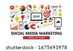 vector background with smm... | Shutterstock .eps vector #1675693978