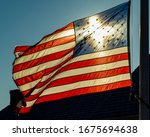 The American Flag Waving In The ...