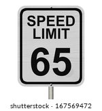 a white american road sign with ... | Shutterstock . vector #167569472