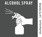 spraying anti bacterial...   Shutterstock .eps vector #1675700908