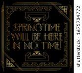 art deco springtime will be... | Shutterstock .eps vector #1675734772