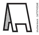 roadside chalkboard. icon...   Shutterstock .eps vector #1675743268