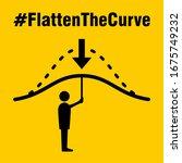 Flatten The Curve Hashtag Icon...
