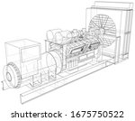 generator. diesel and gas... | Shutterstock .eps vector #1675750522