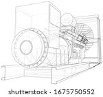 diesel generator. the layers of ... | Shutterstock .eps vector #1675750552