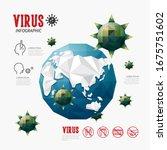 world coronavirus spread. covid ...   Shutterstock .eps vector #1675751602