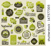 natural organic product labels  ... | Shutterstock .eps vector #167577305