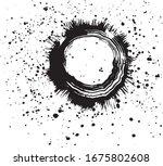 virus. brush stroke virus with... | Shutterstock .eps vector #1675802608