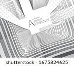 modern architecture 3d... | Shutterstock .eps vector #1675824625