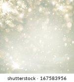 abstract christmas golden... | Shutterstock . vector #167583956