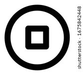 multimedia line icon stop circle