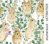 Childish Watercolor Pattern...