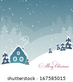 christmas landscape   Shutterstock .eps vector #167585015