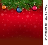 christmas background with... | Shutterstock . vector #167587982