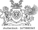 a crest coat of arms family... | Shutterstock .eps vector #1675880365