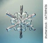 Macro Snowflake Ice Crystals...