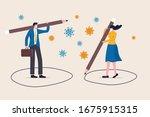 social distancing  keep... | Shutterstock .eps vector #1675915315