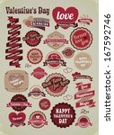 a diverse set of labels for the ... | Shutterstock .eps vector #167592746