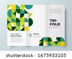 trifold minimal geometric... | Shutterstock .eps vector #1675933105