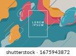 modern geometric fluid abstract ...   Shutterstock .eps vector #1675943872