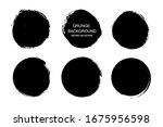 grunge circles.grunge round... | Shutterstock .eps vector #1675956598
