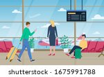 traveler people sitting and...   Shutterstock .eps vector #1675991788