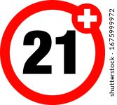 a twenty one years over icon    Shutterstock .eps vector #1675999972
