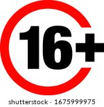 a sixteen years over icon    Shutterstock .eps vector #1675999975