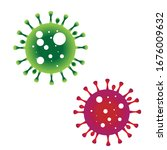 virus sysbol vector design red... | Shutterstock .eps vector #1676009632