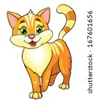 Cute Cat  Vector Illustration...