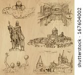 traveling series  hungary  set... | Shutterstock .eps vector #167604002