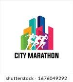 running marathon in city vector ...   Shutterstock .eps vector #1676049292