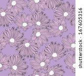 violet  flowers and violet... | Shutterstock .eps vector #167605316