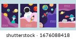 collection of space background...   Shutterstock .eps vector #1676088418
