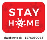 stay at home   self isolation...   Shutterstock .eps vector #1676090065
