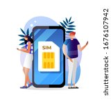 sim card concept illustration....