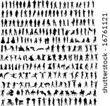 hundreds of people silhouettes  ... | Shutterstock .eps vector #16761121