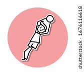 goalkeeper catches ball sticker ...