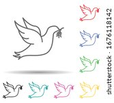 dove with branch of peace multi ...