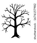 Big  Tall Tree   Vector Black...